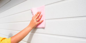 cleaning garage door - Superior Garage Door Repair